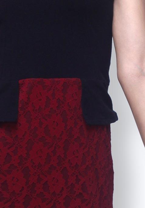 Lace Amaze Peplum Dress