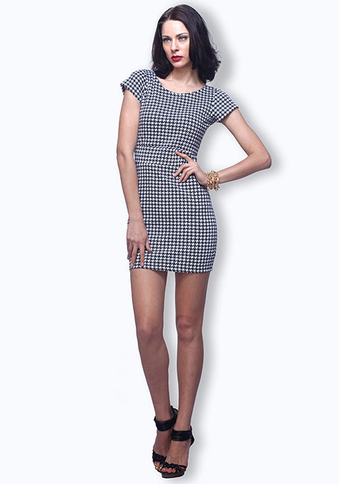 Mighty Houndstooth Dress