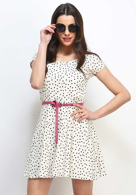 Pop The Dot Skater Dress