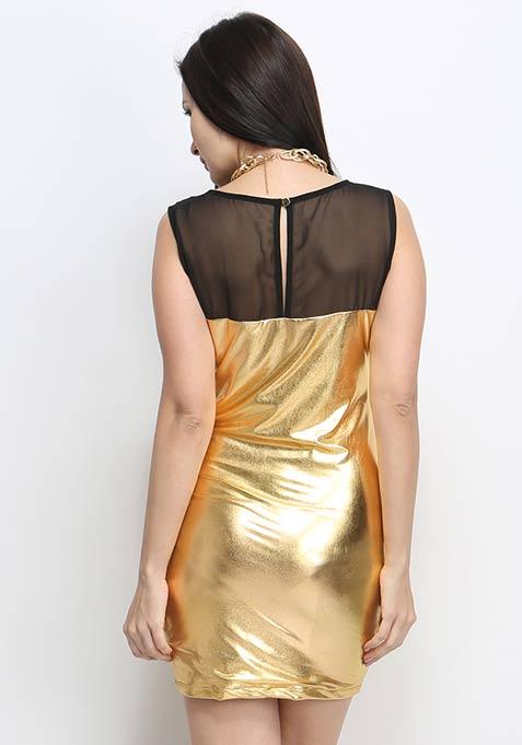 Metal Muse Dress - Gold