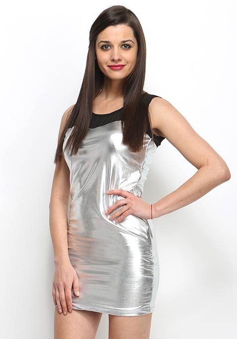 Metal Muse Dress - Silver