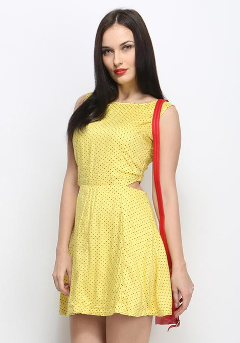 Forever Polka Cutaway Dress