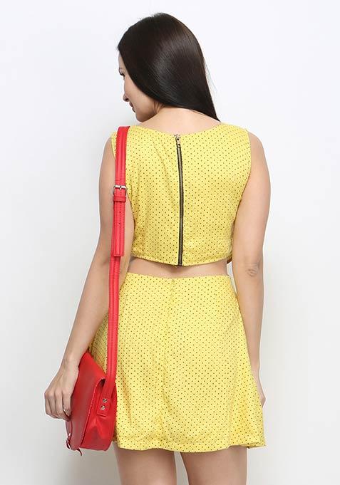Forever Polka Cutaway Dress