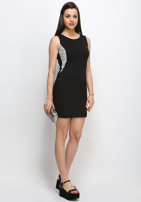 Silver Side Bodycon Dress