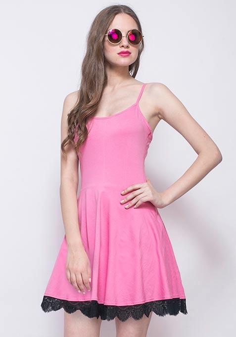 Day Dreaming Skater Dress - Pink