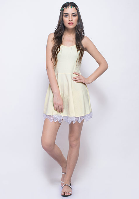 Day Dreaming Skater Dress - Lemon