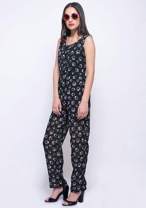 Sunny Sunday Floral Jumpsuit - Daisy