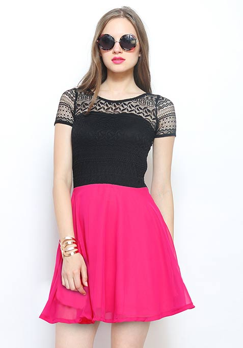 Bright Nights Skater Dress