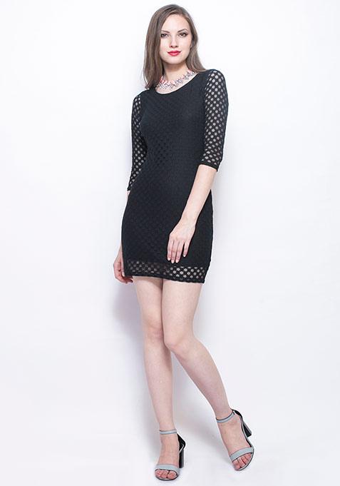 Noir Night Bodycon Dress
