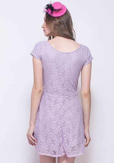 Le Parisian Skater Dress - Lilac