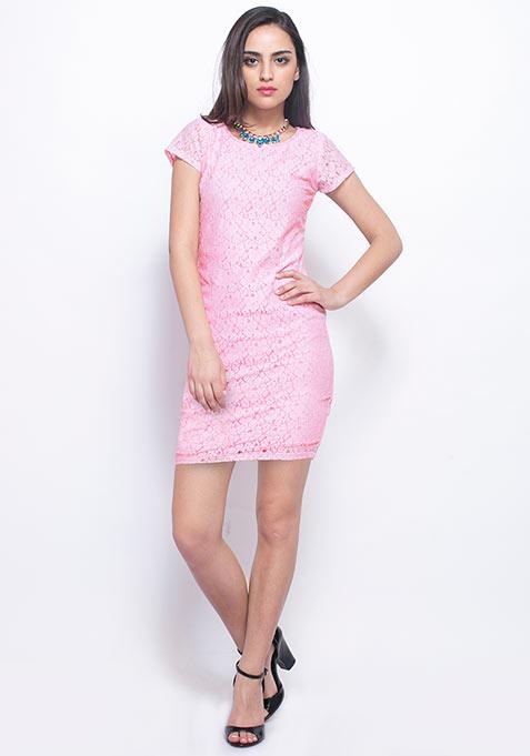 Powder Pink Lace Dress