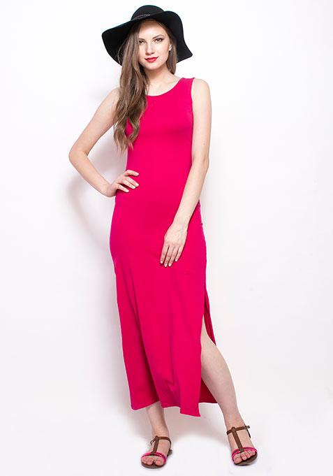 Pink Jazz Maxi Dress