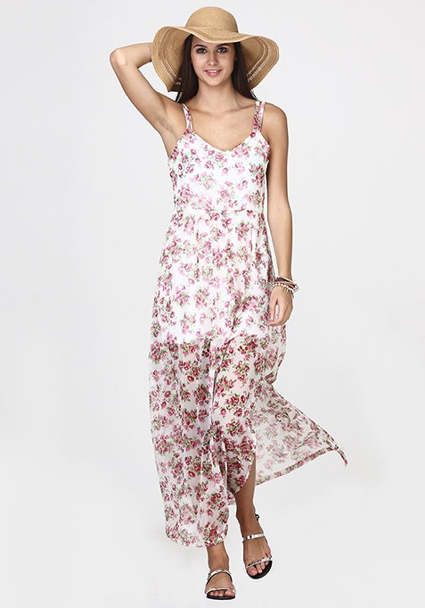 Floral Swing Maxi Dress