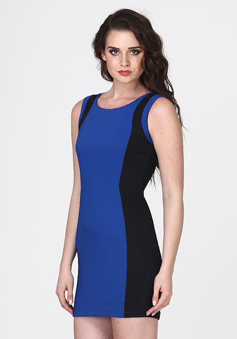 Deep Curves Sheath Dress