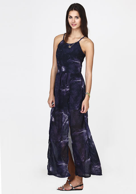 Cosmic Story Maxi Dress