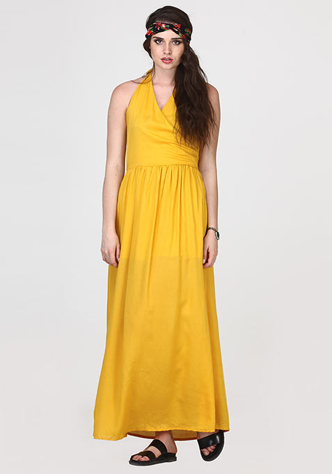 Boho Cool Maxi Dress - Yellow