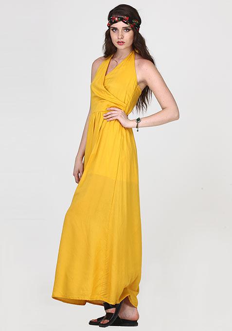 Boho Cool Maxi Dress - Yellow