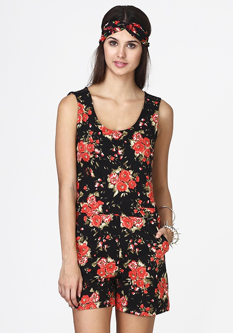 Floral Flush Playsuit