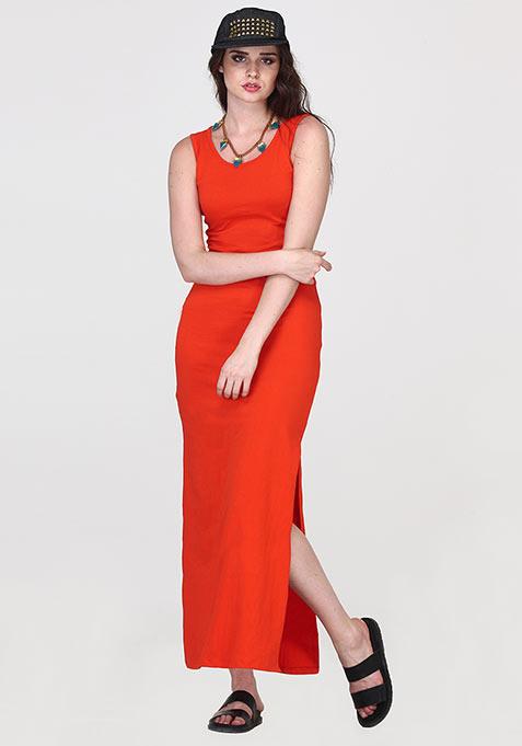 Orange Ooze Maxi Dress