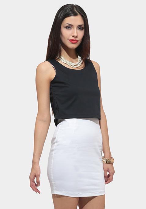 Monochrome Fix Bodycon Dress