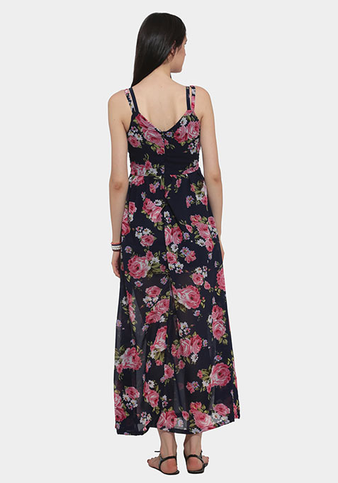 Walking Roses Maxi Dress