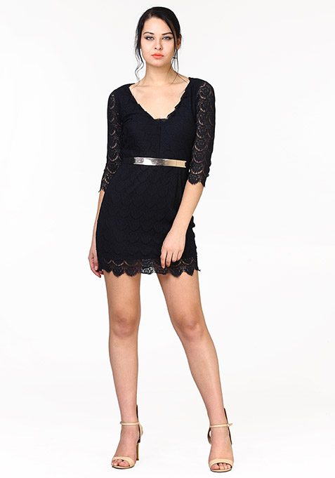 Black Luxe Lace Dress
