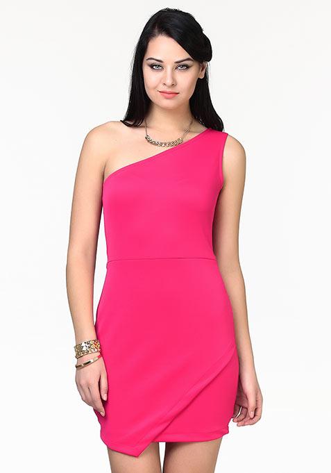 Wild Side Bodycon Dress - Pink