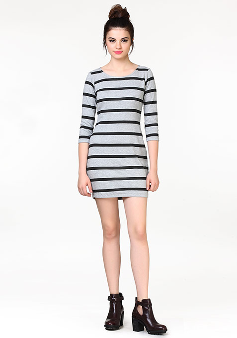Game Of Lines T-Shirt Dress