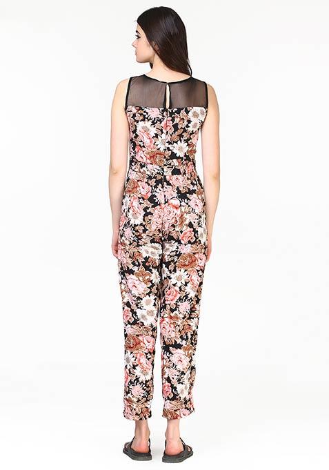 Print Crazy Jumpsuit - Floral