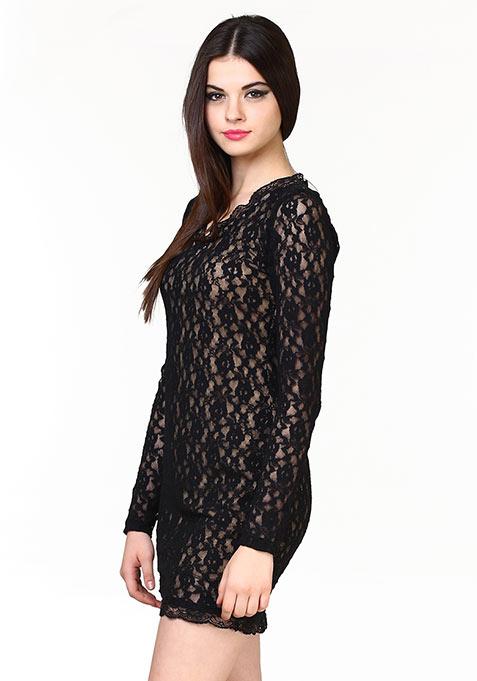 Lace Muse Dress - Black