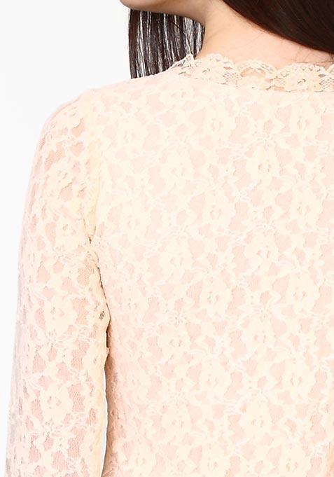 Lace Muse Dress - Nude