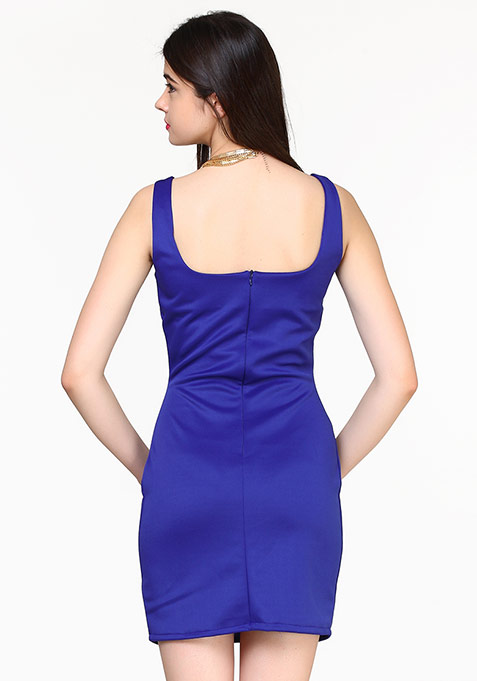 Haute Nights Bodycon Dress - Blue