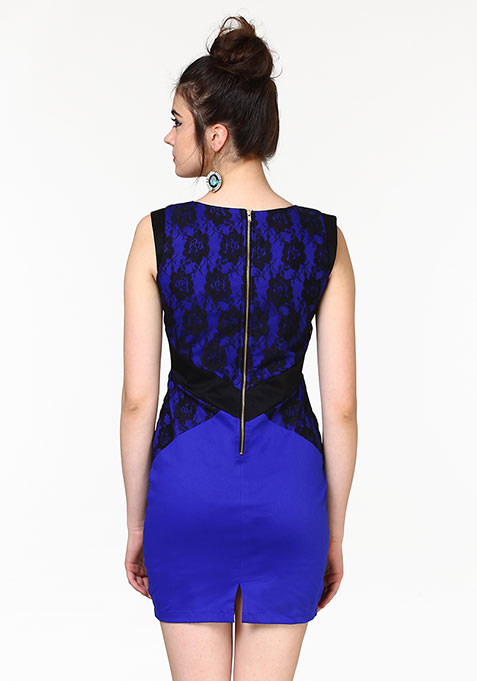 Lace Infuse Dress - Blue