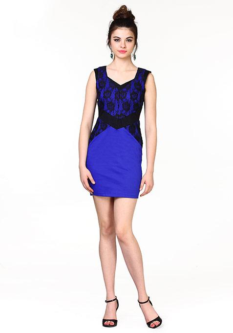 Lace Infuse Dress - Blue