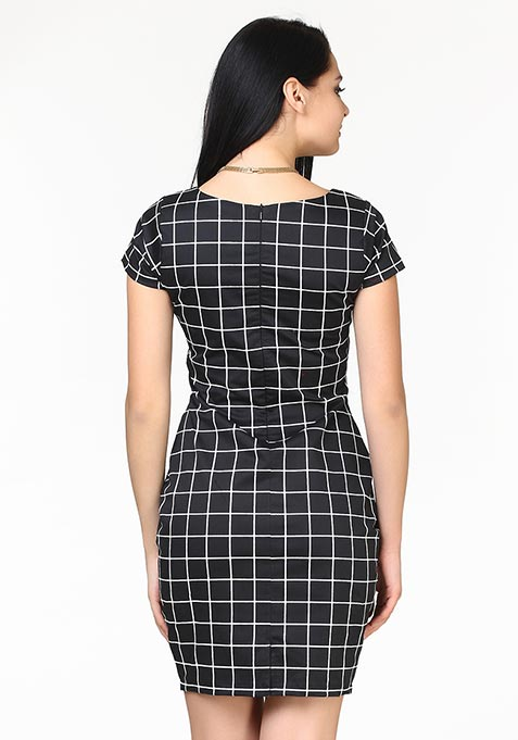 Check That Sheath Dress - Black