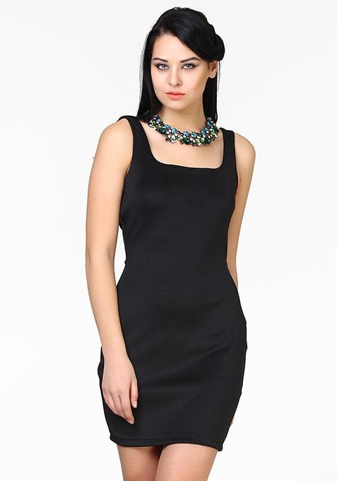 Haute Nights Bodycon Dress - Black