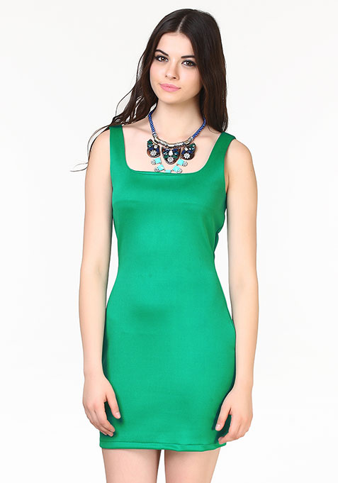 Haute Nights Bodycon Dress - Green