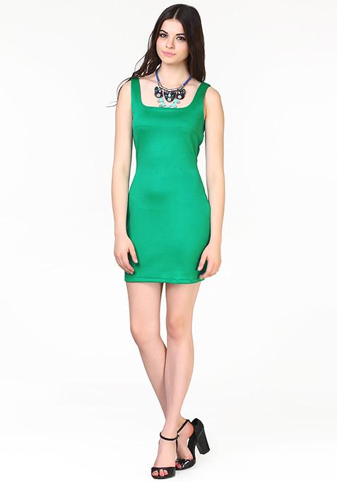 Haute Nights Bodycon Dress - Green