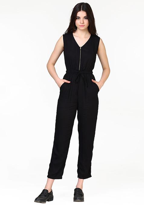 Zip This Jumpsuit - Black