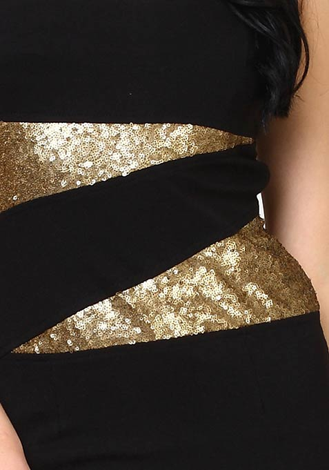 Bling Thing Bodycon Dress - Copper