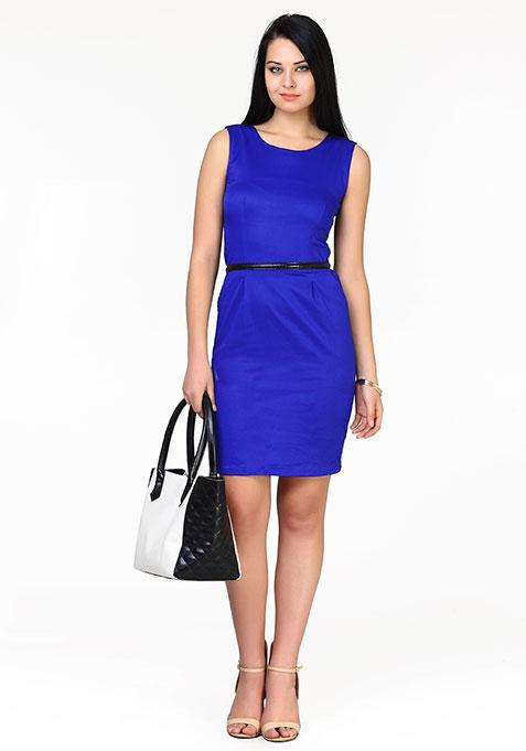 Strictly Profesh Sheath Dress - Blue