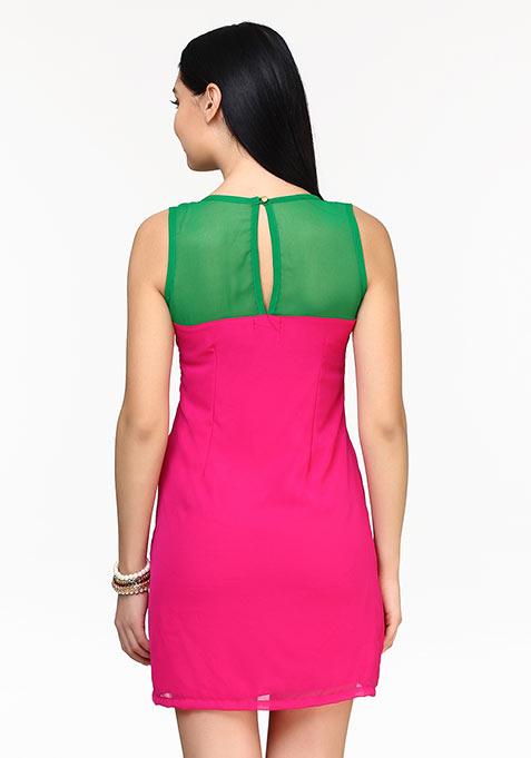 Popping Hues Shift Dress
