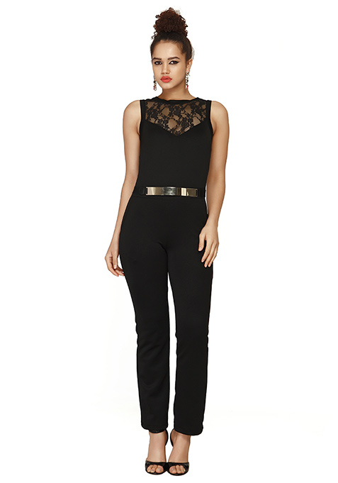 Fierce Black Scuba Jumpsuit