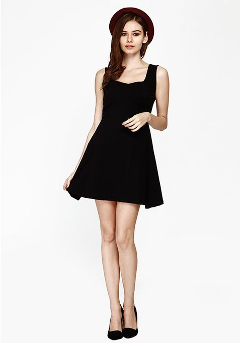 Sunny Days Skater Dress - Black