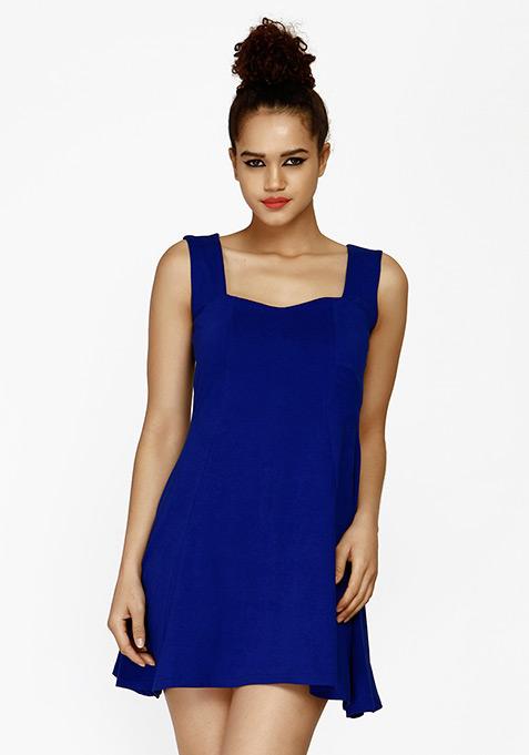 Sunny Days Skater Dress - Blue