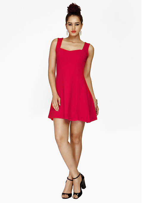 Sunny Days Skater Dress - Pink