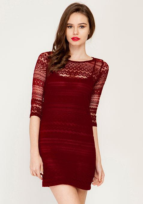 Lace Glaze Bodycon Dress