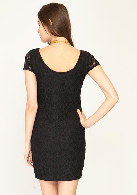 In The Deep Bodycon Dress - Black