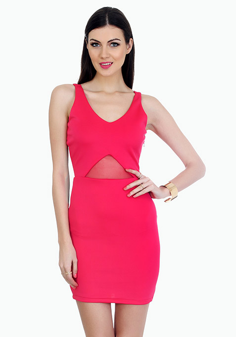 Bringing Sexy Bodycon Dress - Pink