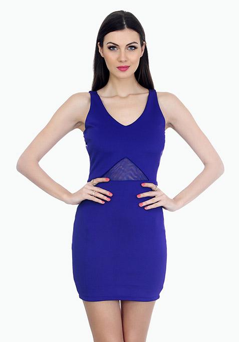 Bringing Sexy Bodycon Dress - Blue